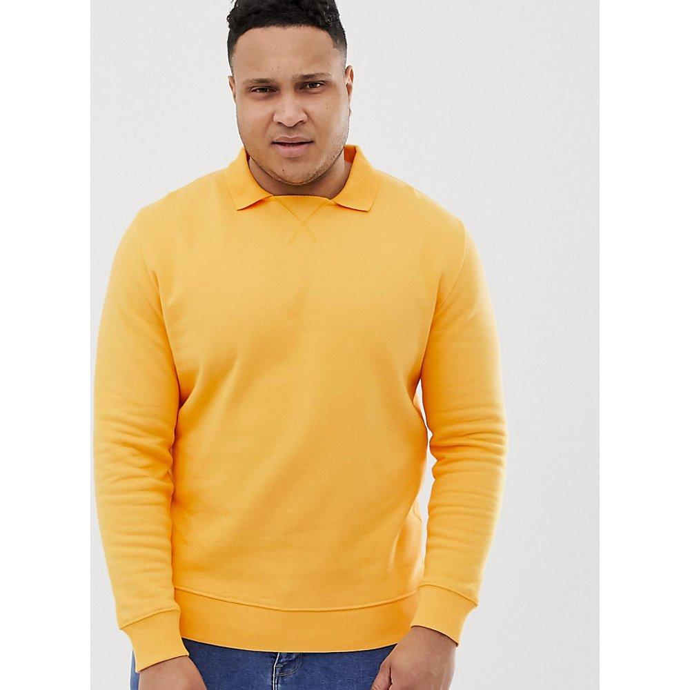 Plus - Sweat-shirt avec col style polo - ASOS DESIGN - Modalova