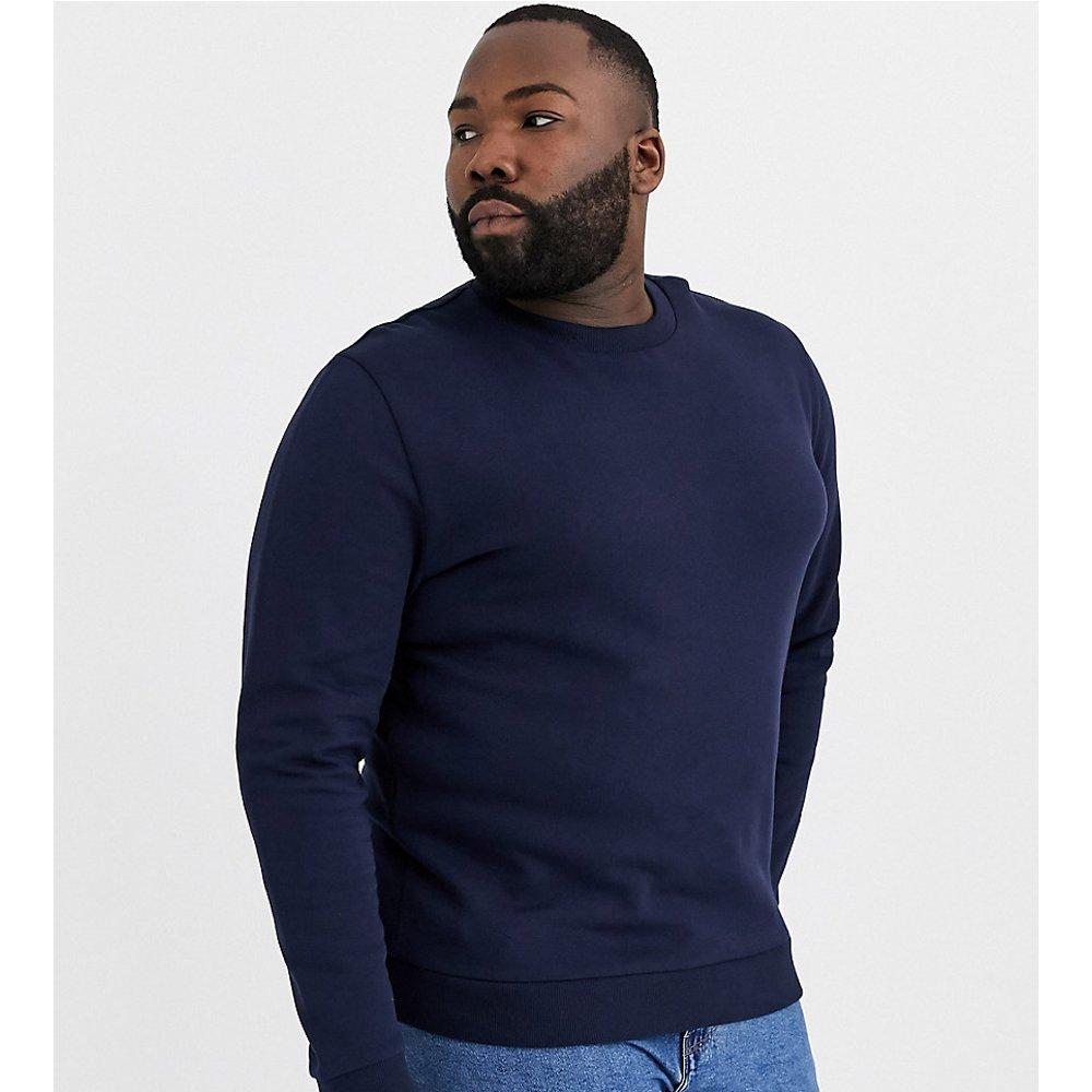 Plus - Sweat-shirt - Bleu marine - ASOS DESIGN - Modalova
