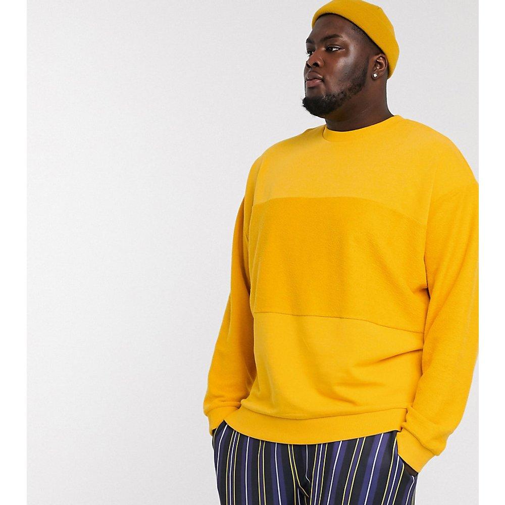 Plus - Sweat-shirt oversize avec empiècements effet coupé-cousu - ASOS DESIGN - Modalova