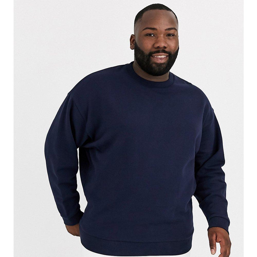 Plus - Sweat-shirt oversize - Bleu marine - ASOS DESIGN - Modalova