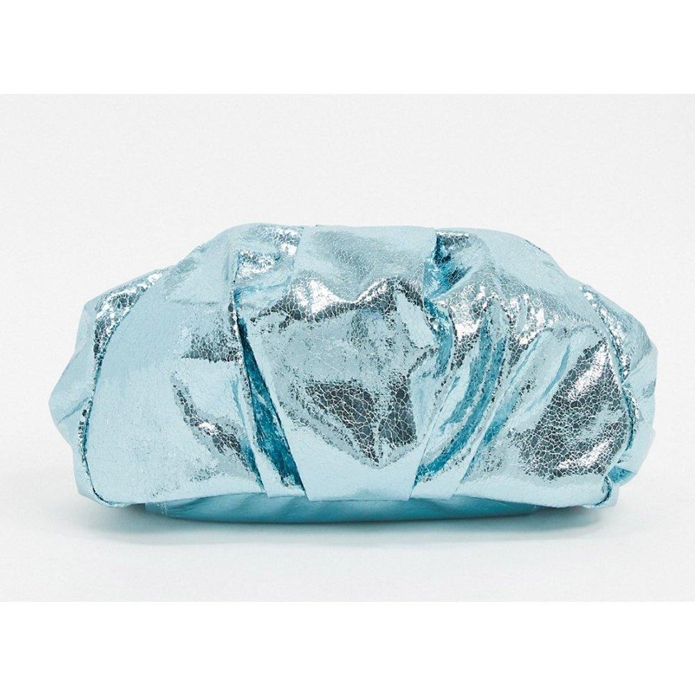 Pochette oversize froncée - métallisé - ASOS DESIGN - Modalova