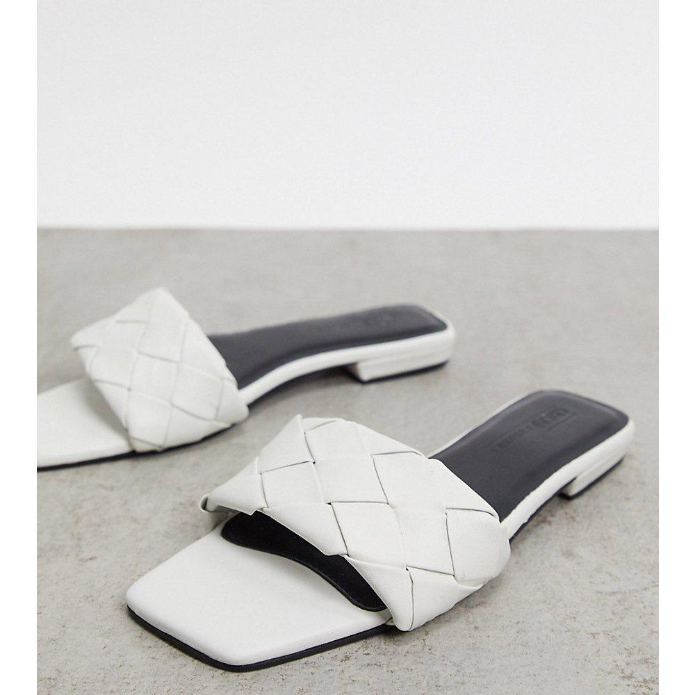 Pointure large - Fazed - Sandales plates matelassées en cuir - ASOS DESIGN - Modalova