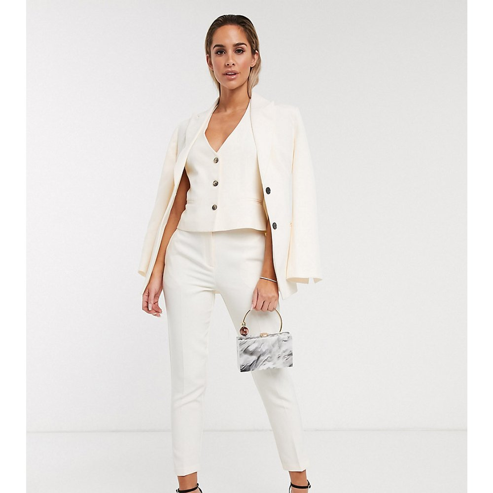 Pop - Pantalon de costume slim - Ivoire - ASOS DESIGN - Modalova