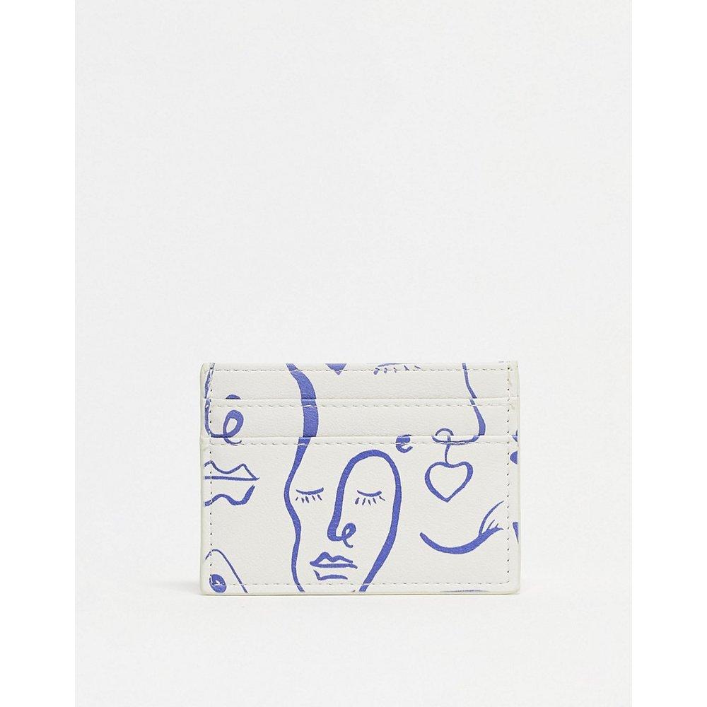 Porte-carte avec imprimé visage - ASOS DESIGN - Modalova