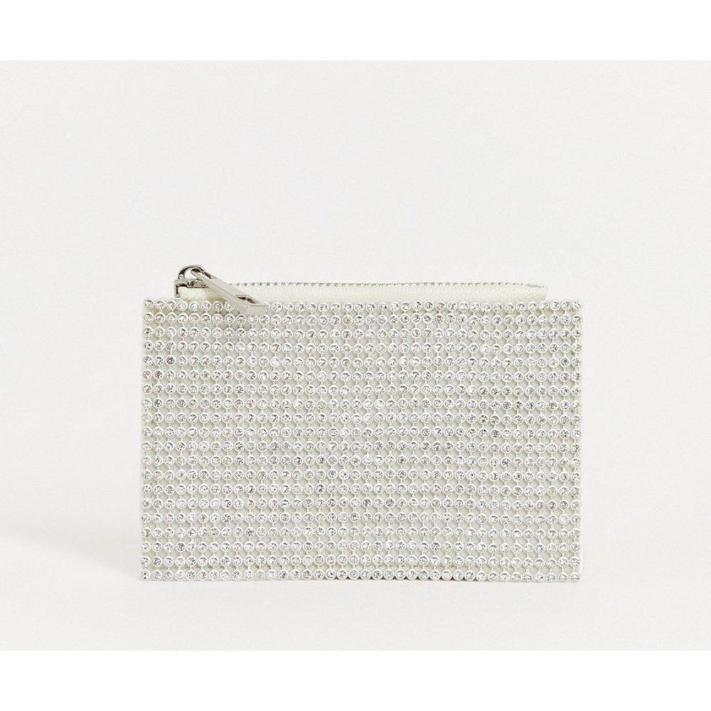 Porte-monnaie à strass avec porte-cartes - ASOS DESIGN - Modalova