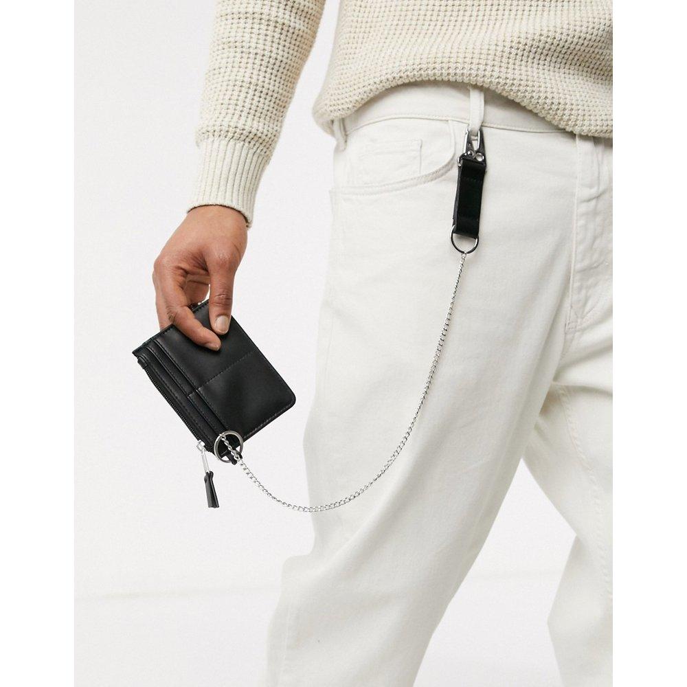 Portefeuille avec chaîne argentée - ASOS DESIGN - Modalova