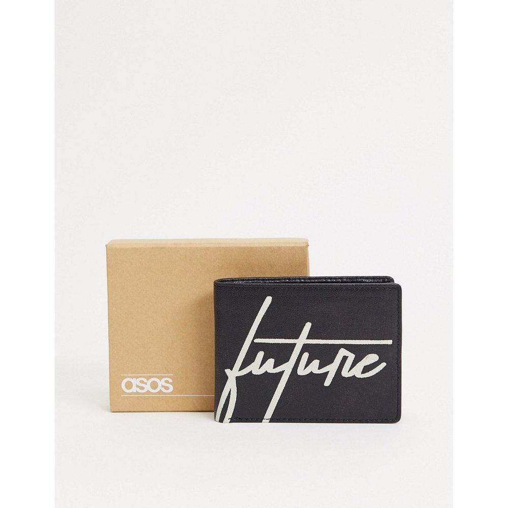 ASOS DESIGN - Portefeuille en cuir avec inscription «dark future» - ASOS Dark Future - Modalova