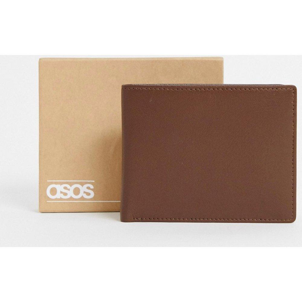 Portefeuille en cuir avec porte-monnaie intégré - ASOS DESIGN - Modalova
