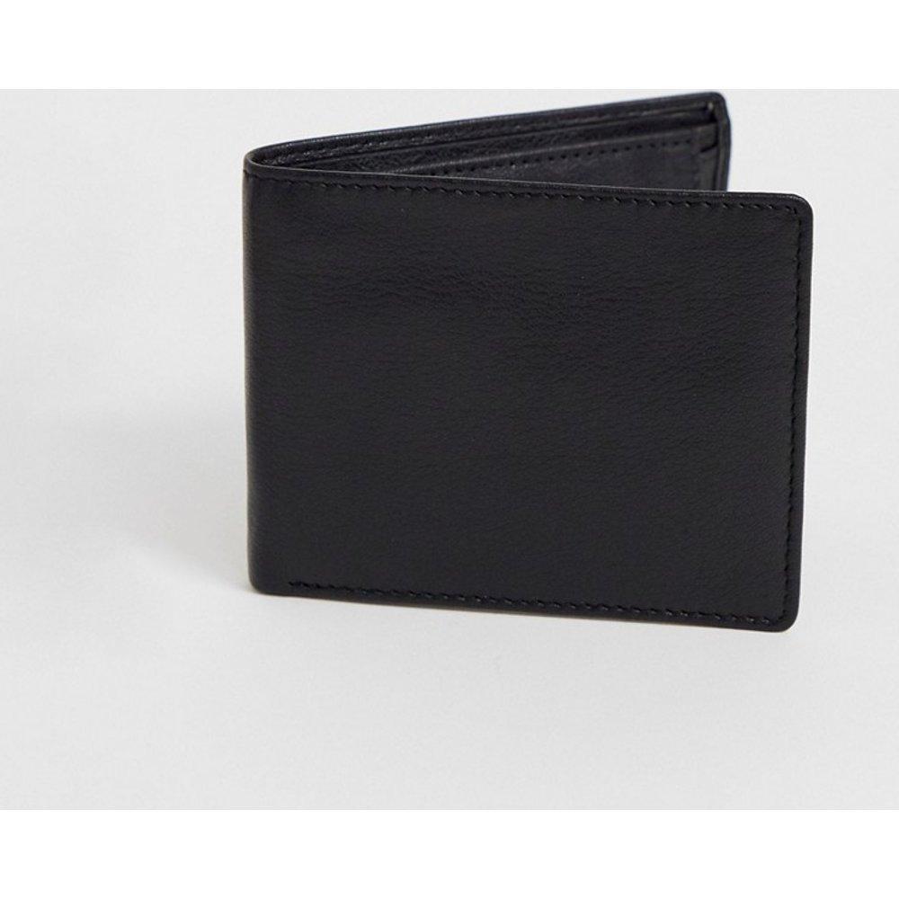 Portefeuille en cuir avec porte-monnaie intérieur - ASOS DESIGN - Modalova