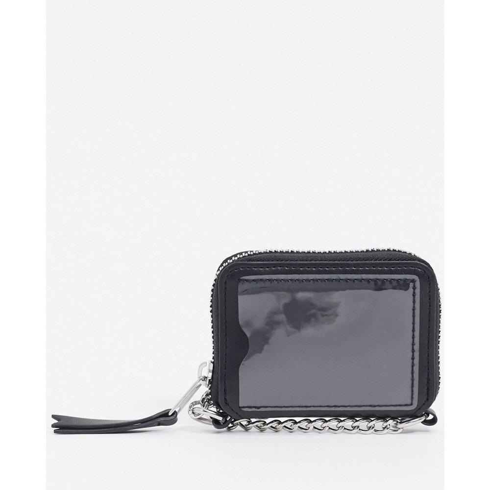 Portefeuille en imitation cuir avec bandoulière chaîne - ASOS DESIGN - Modalova