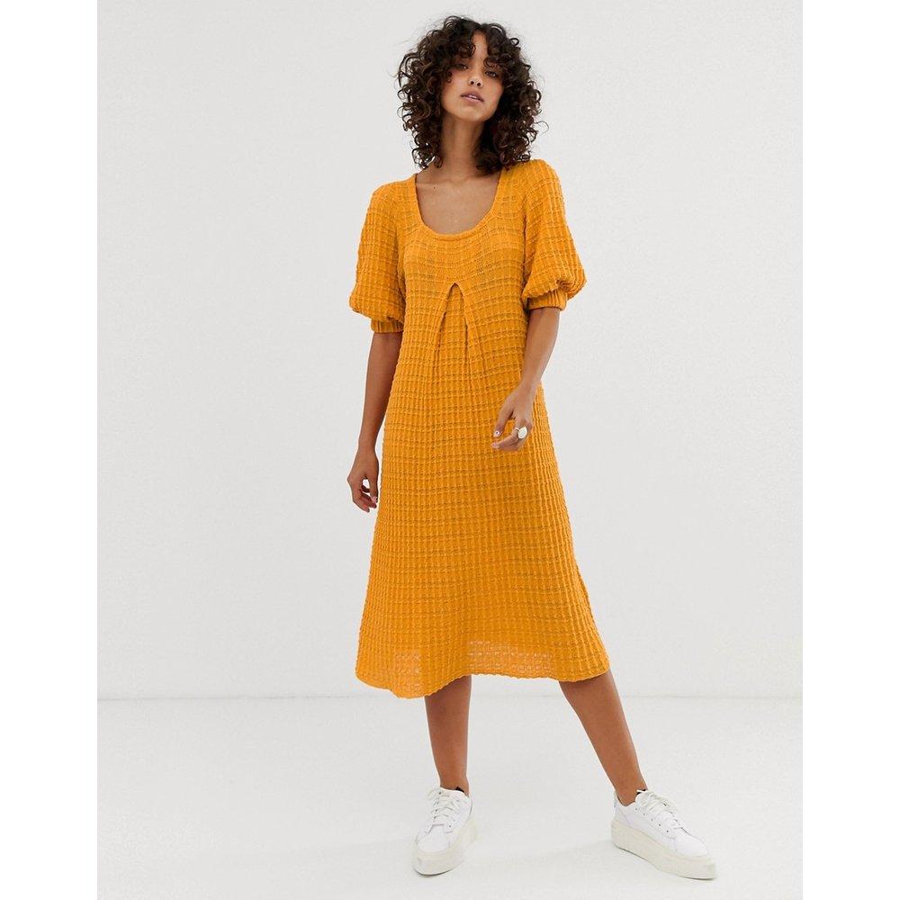 Premium - Robe mi-longue trapèze oversize en maille - ASOS DESIGN - Modalova