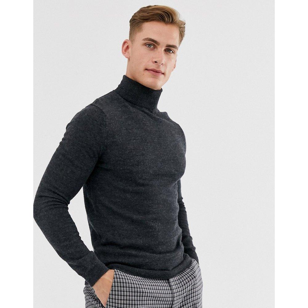Pull col roulé en laine mérinos - Anthracite - ASOS DESIGN - Modalova