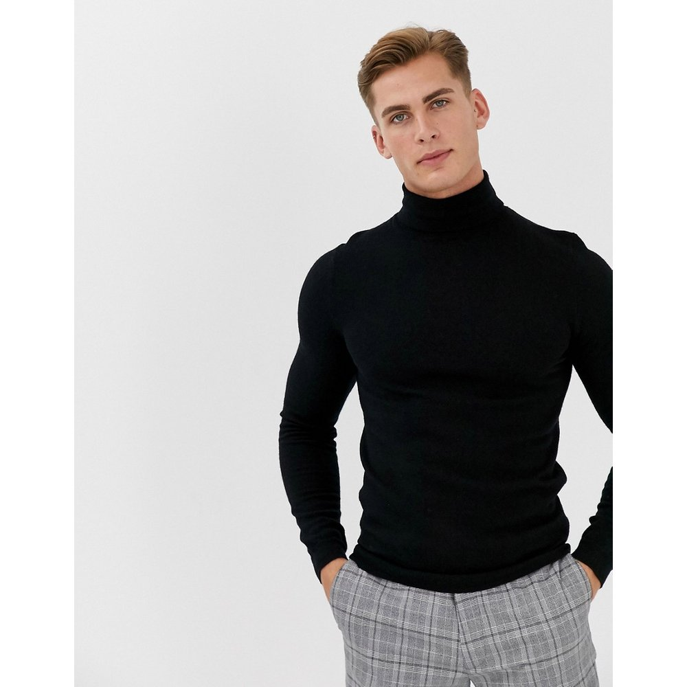 Pull col roulé moulant en laine mérinos - ASOS DESIGN - Modalova