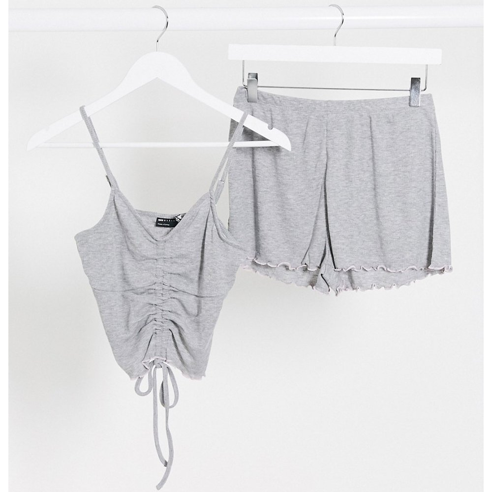 Pyjama à mini top et short volanté - ASOS DESIGN - Modalova