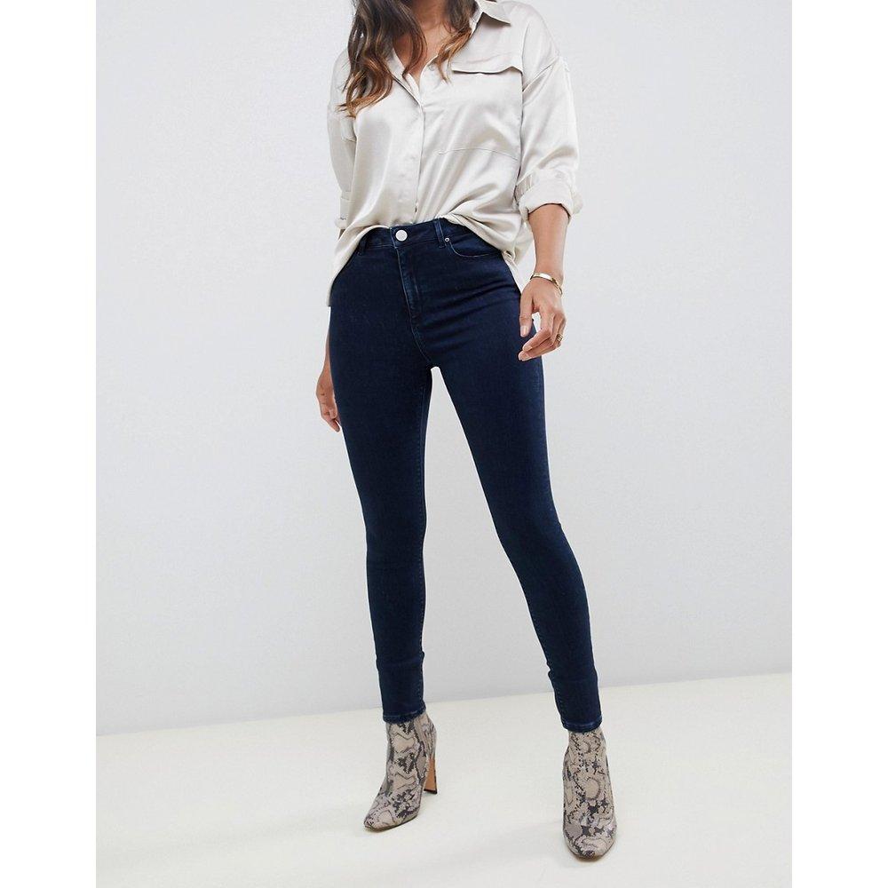 Ridley - Jean skinny taille haute - foncé délavé - ASOS DESIGN - Modalova