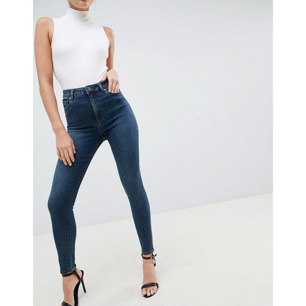 Ridley - Jean skinny taille haute - gris délavé - ASOS DESIGN - Modalova