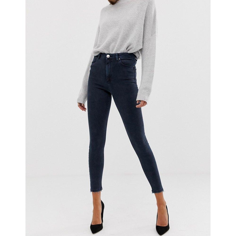 Ridley - Jean skinny taille haute - noir délavé - ASOS DESIGN - Modalova