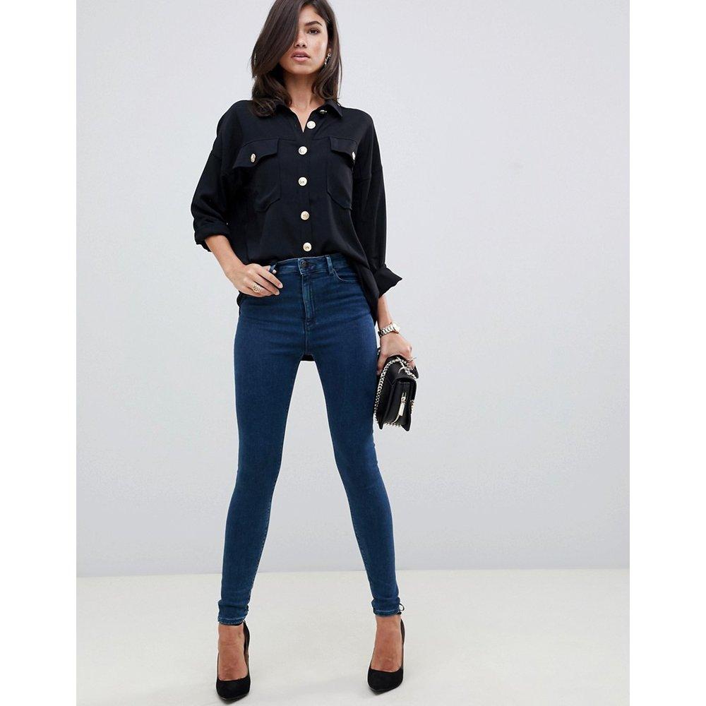 Ridley - Jean skinny taille haute - vif délavé - ASOS DESIGN - Modalova