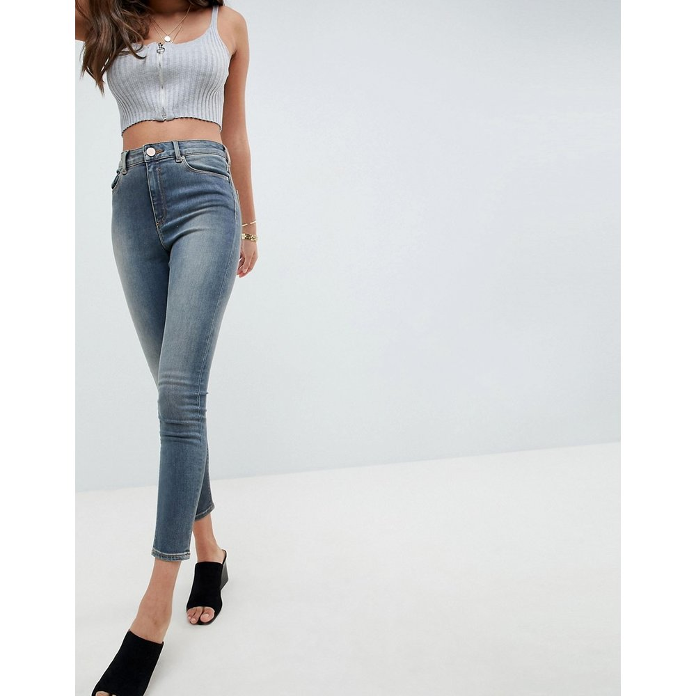 Ridley - Jean skinny taille haute - vintage délavé - ASOS DESIGN - Modalova
