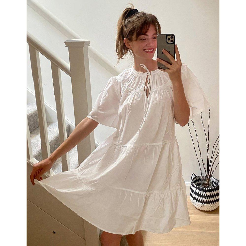 ASOS DESIGN - Robe babydoll courte en popeline - Topshop - Modalova