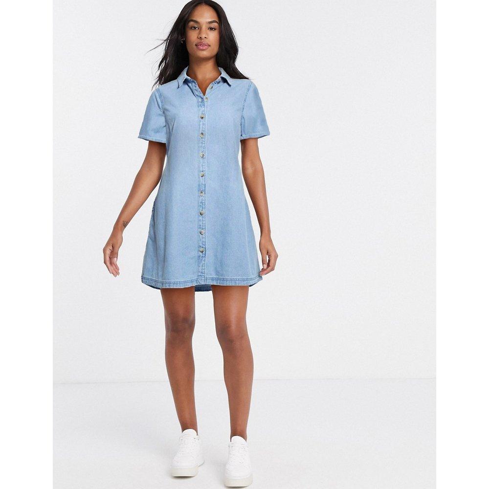 Robe chemise babydoll en jean souple - moyen délavé - ASOS DESIGN - Modalova
