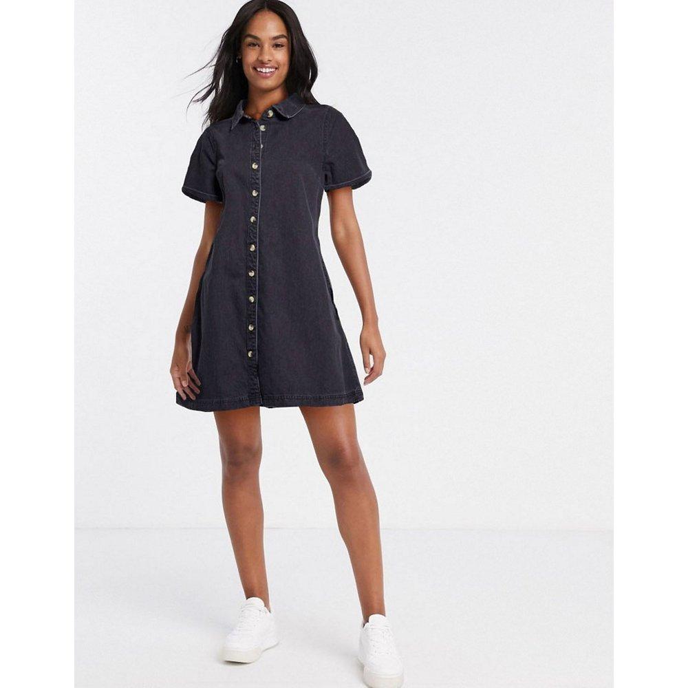 Robe chemise babydoll en jean souple - délavé - ASOS DESIGN - Modalova