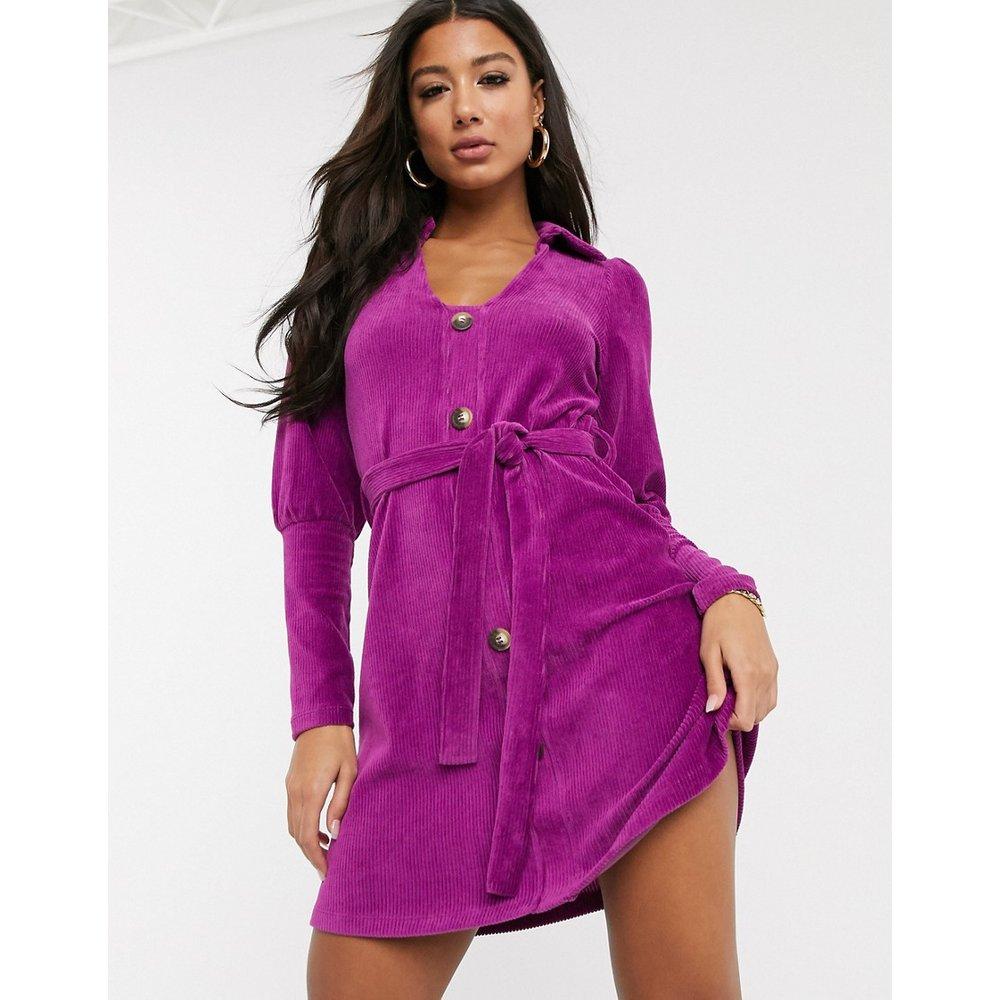 Robe chemise courte en velours côtelé - ASOS DESIGN - Modalova