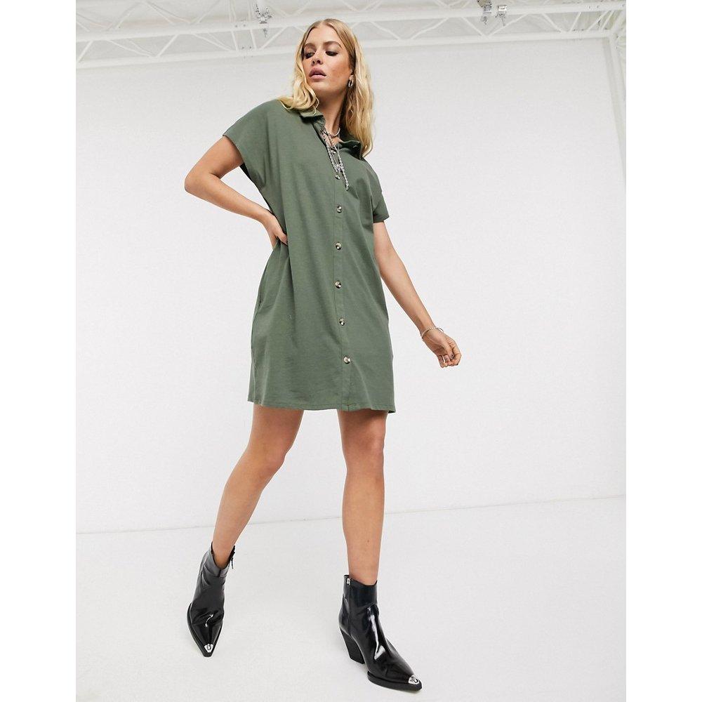 Robe chemise courte - Kaki - ASOS DESIGN - Modalova
