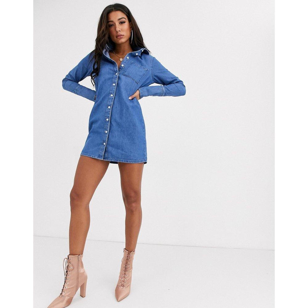 Robe chemise en jean - ASOS DESIGN - Modalova