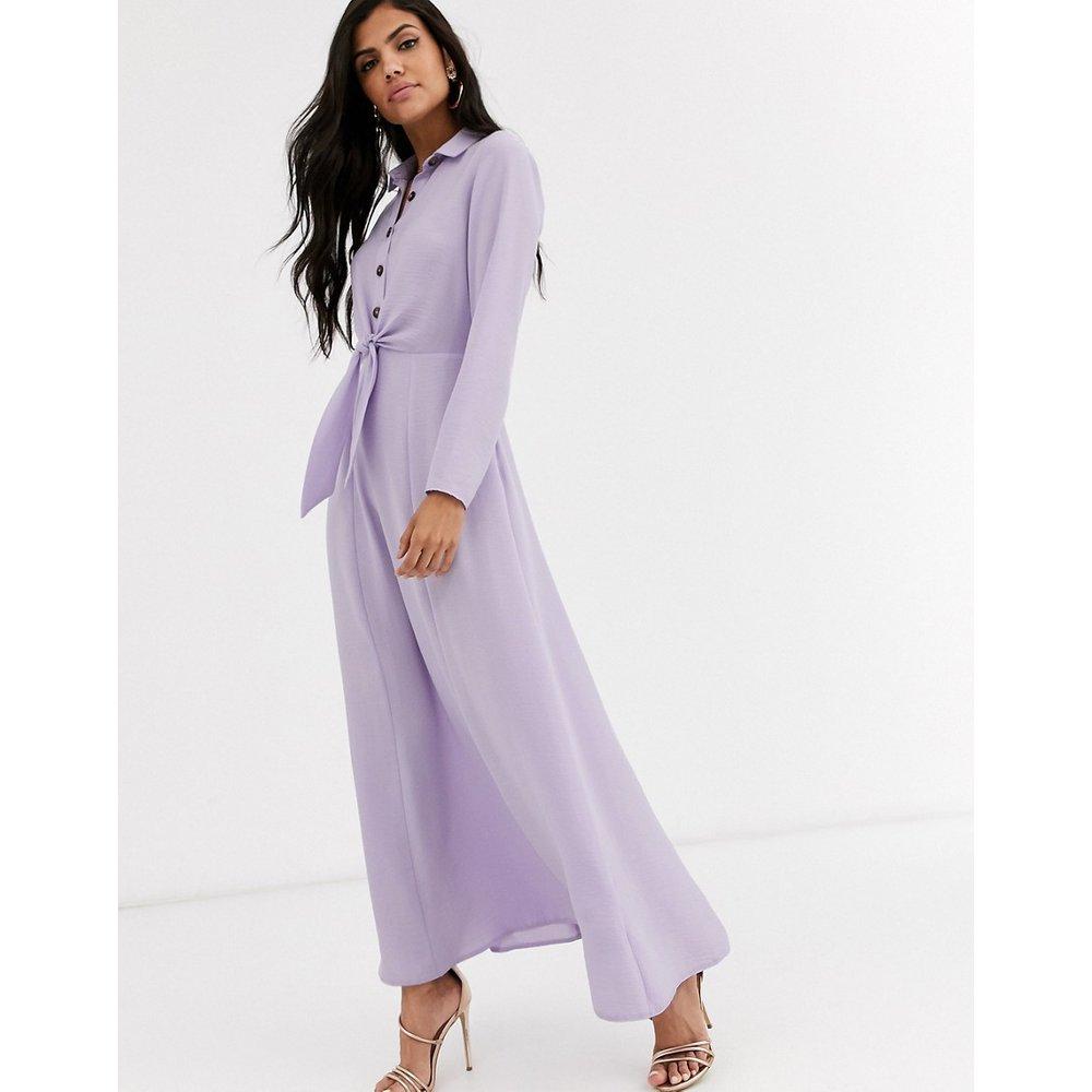 Robe chemise longue et boutonnée coupe cache-cœur - ASOS DESIGN - Modalova