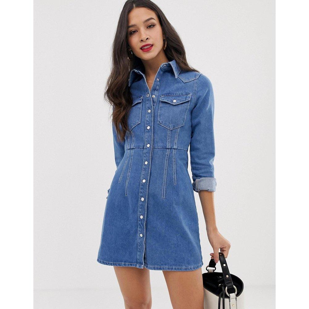 Robe chemise structurée en jean - vif - ASOS DESIGN - Modalova