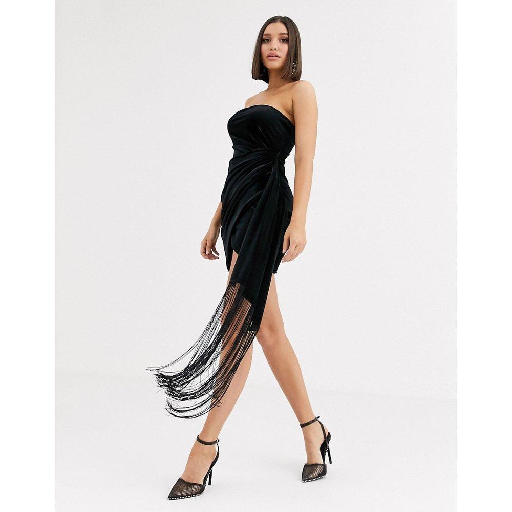 Robe courte bandeau en velours avec détail drapé - ASOS DESIGN - Modalova