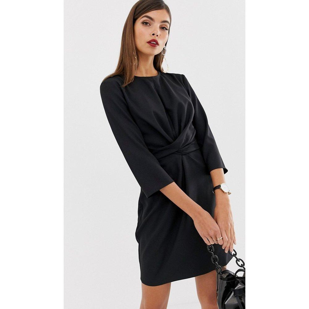Robe courte portefeuille nouée - ASOS DESIGN - Modalova