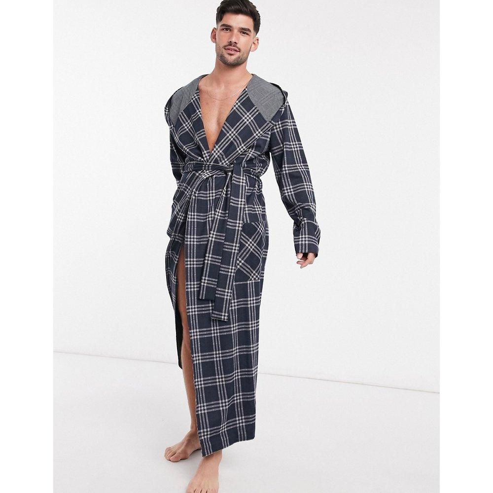 Robe de chambre - Carreaux bleu marine - ASOS DESIGN - Modalova