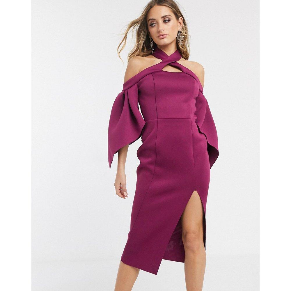 Robe fourreau mi-longue dos nu à épaules dénudées - ASOS DESIGN - Modalova