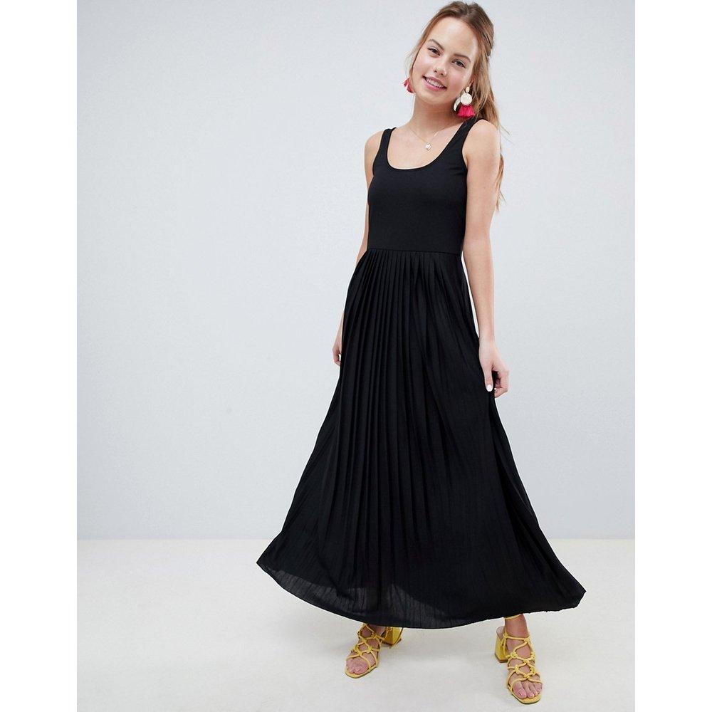 Robe longue à jupe plissée - ASOS DESIGN - Modalova