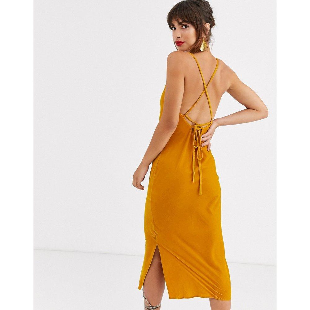 Robe nuisette mi-longue style caraco en velours avec dos lacé - ASOS DESIGN - Modalova