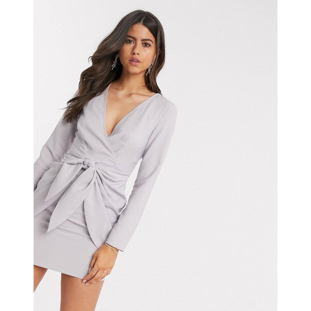 Robe portefeuille courte avec jupe nouée - ASOS DESIGN - Modalova