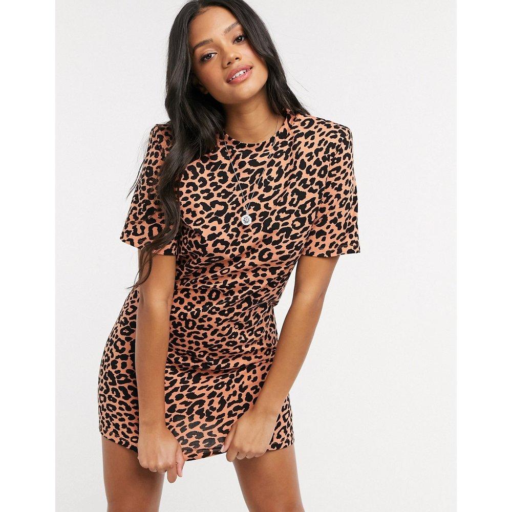Robe t-shirt courtemanches courtes àépaulettes - Imprimé léopard - ASOS DESIGN - Modalova