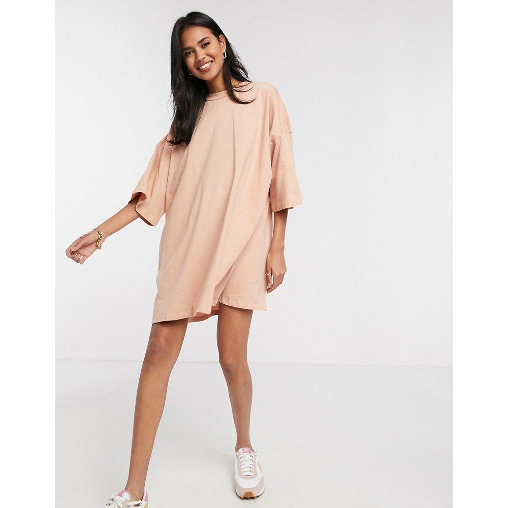 Robe t-shirt oversize- Beige - ASOS DESIGN - Modalova
