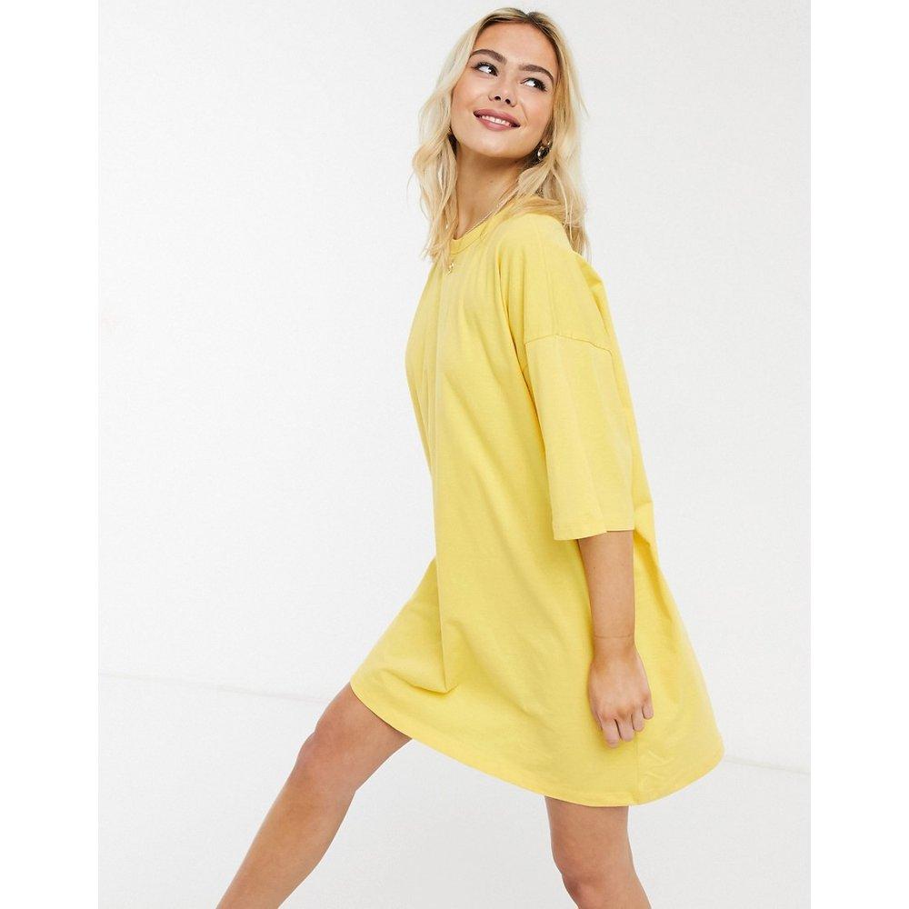 Robe t-shirt oversize - Jaune - ASOS DESIGN - Modalova