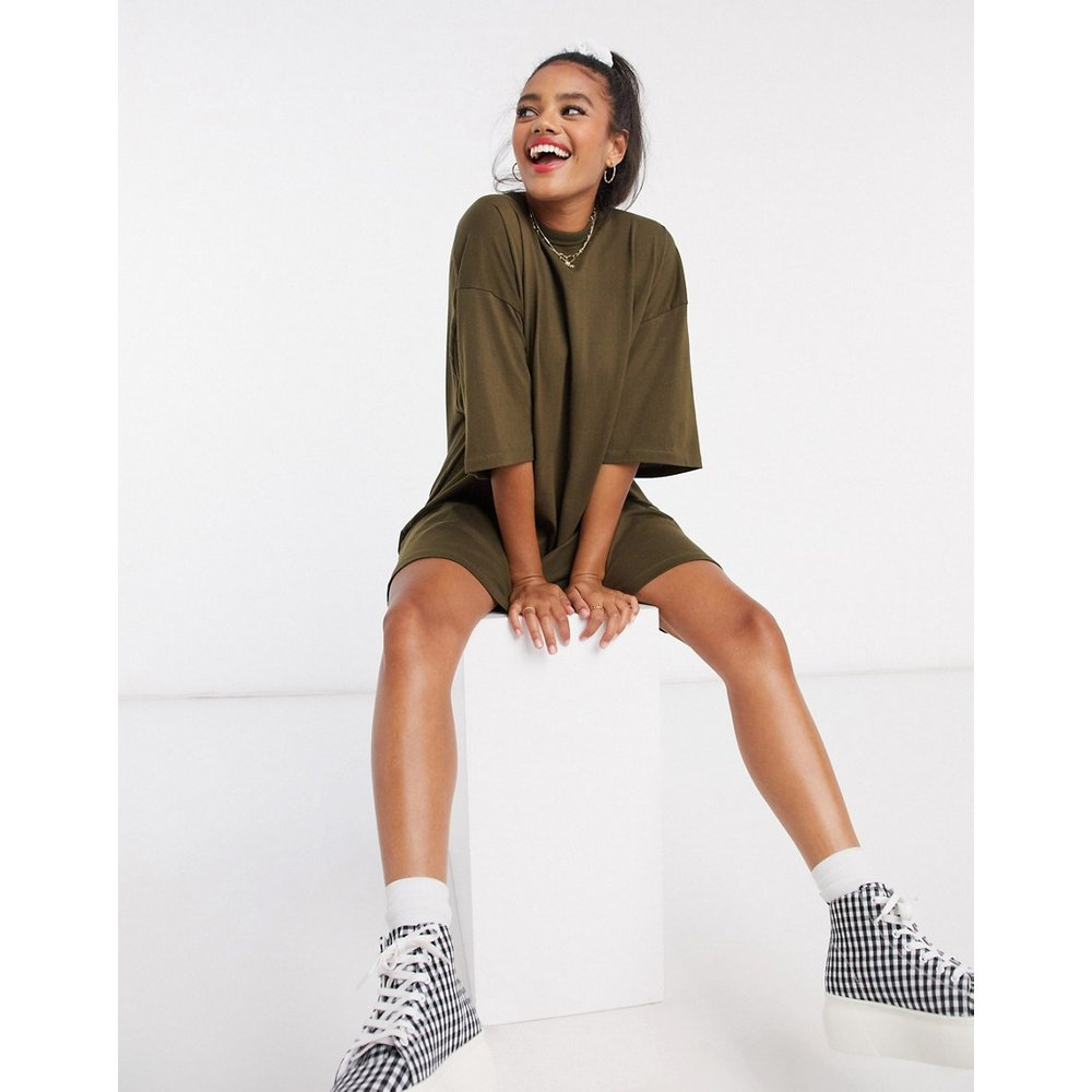 Robe t-shirt oversize - Kaki - ASOS DESIGN - Modalova