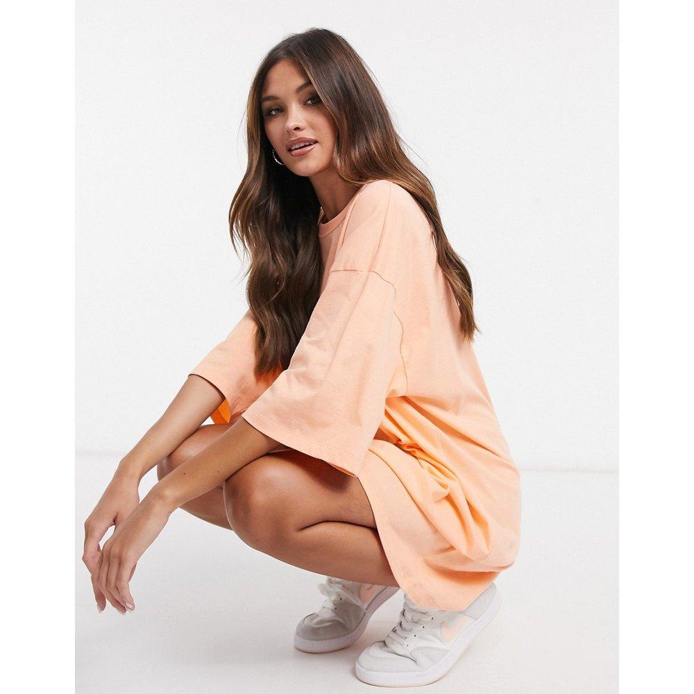 Robe t-shirt oversize - Pêche - ASOS DESIGN - Modalova