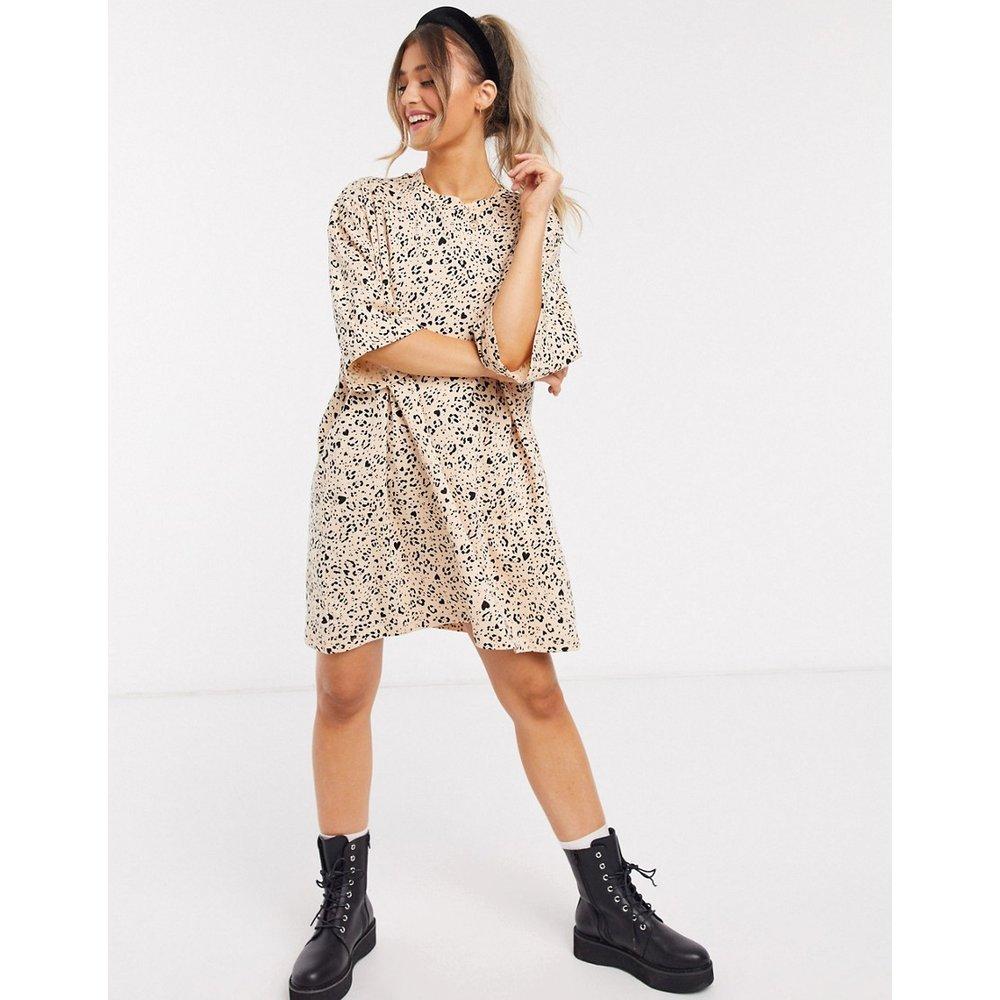 Robe t-shirt oversize - Petit motif léopard - ASOS DESIGN - Modalova