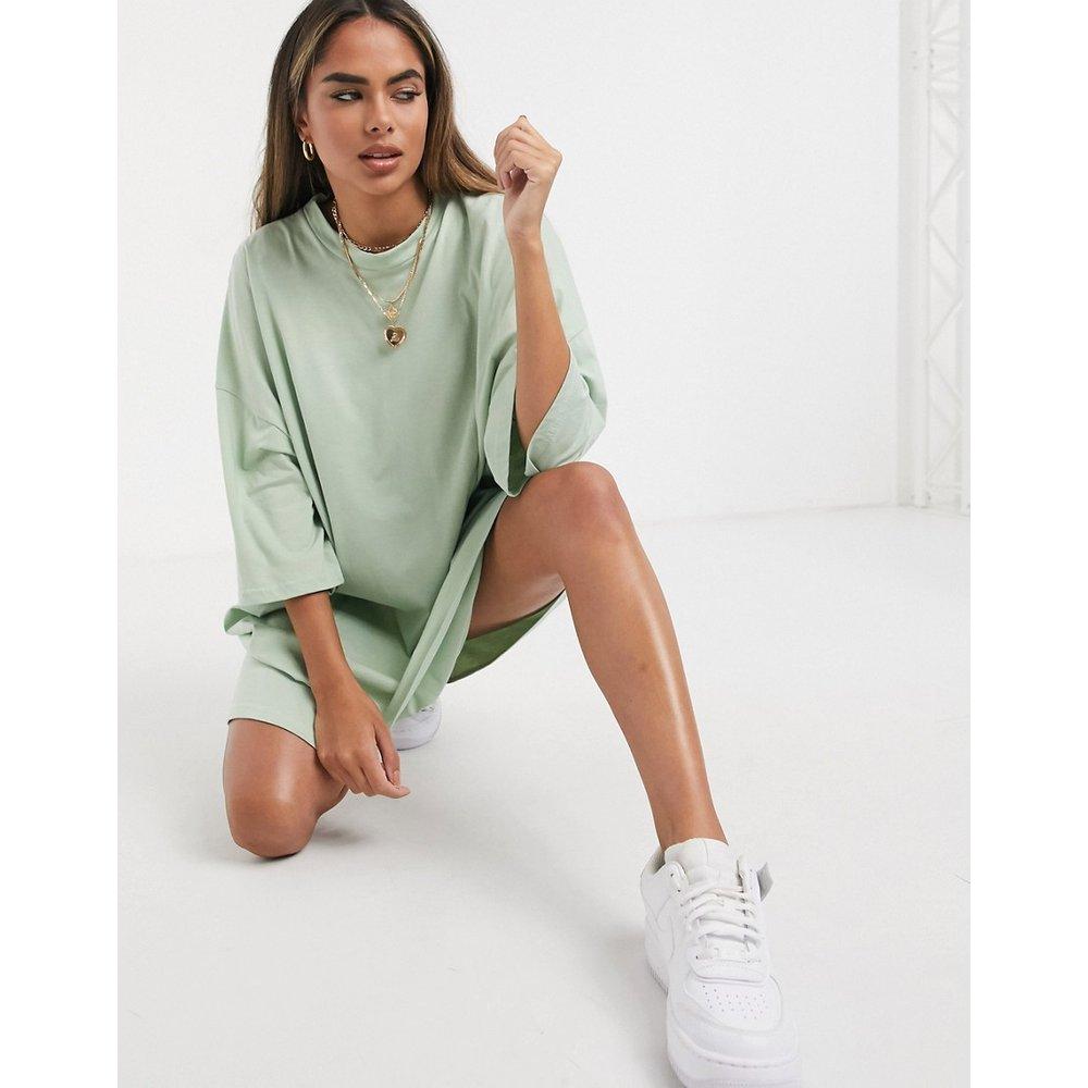 Robe t-shirt oversize - sauge - ASOS DESIGN - Modalova