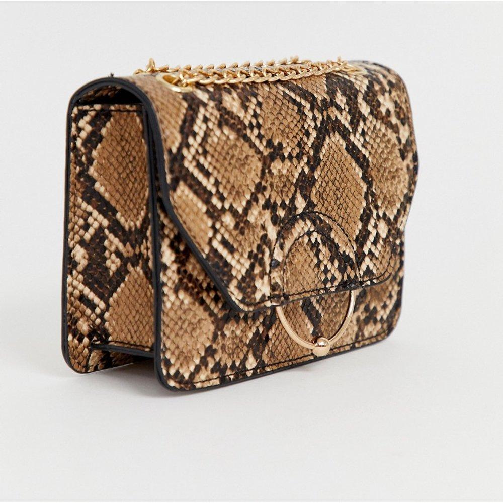 Sac motif serpent à bandoulière en chaîne avec anneau et boule - ASOS DESIGN - Modalova
