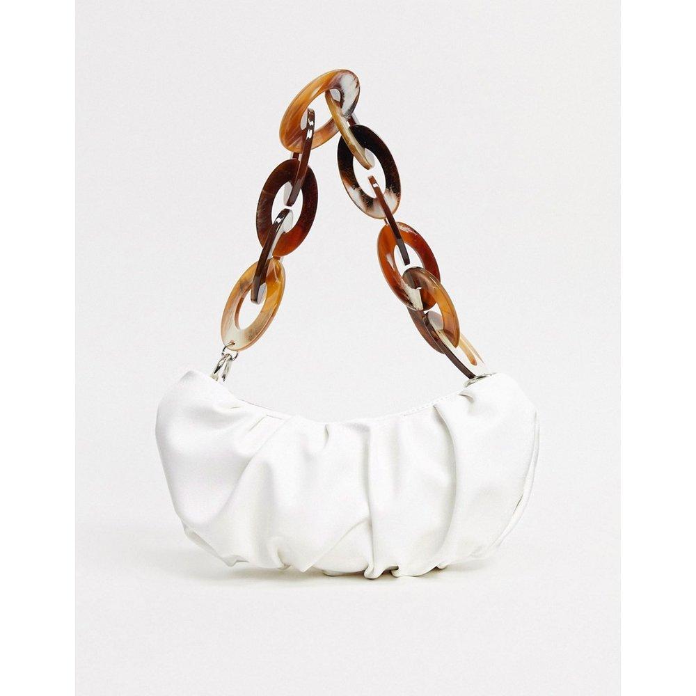 Sac porté épaule à fronces et chaîne en résine - ASOS DESIGN - Modalova