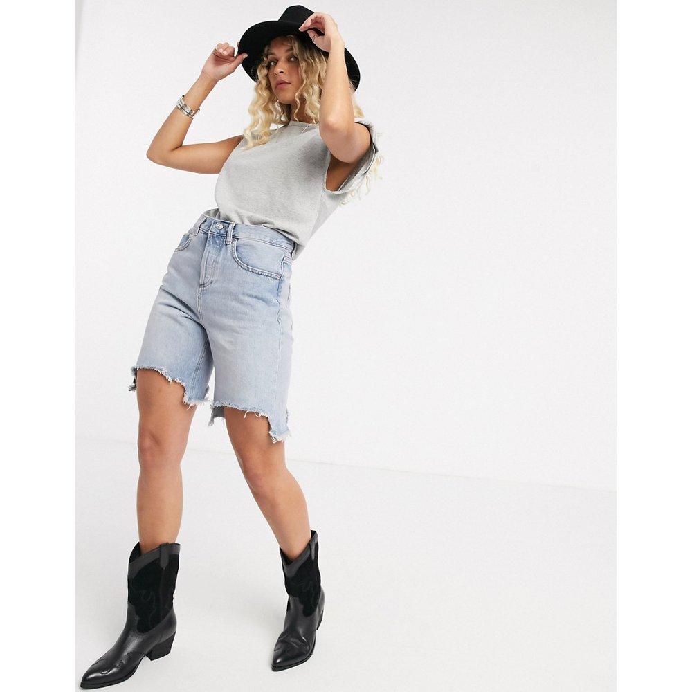Short en jean décontracté à taille basse - ASOS DESIGN - Modalova