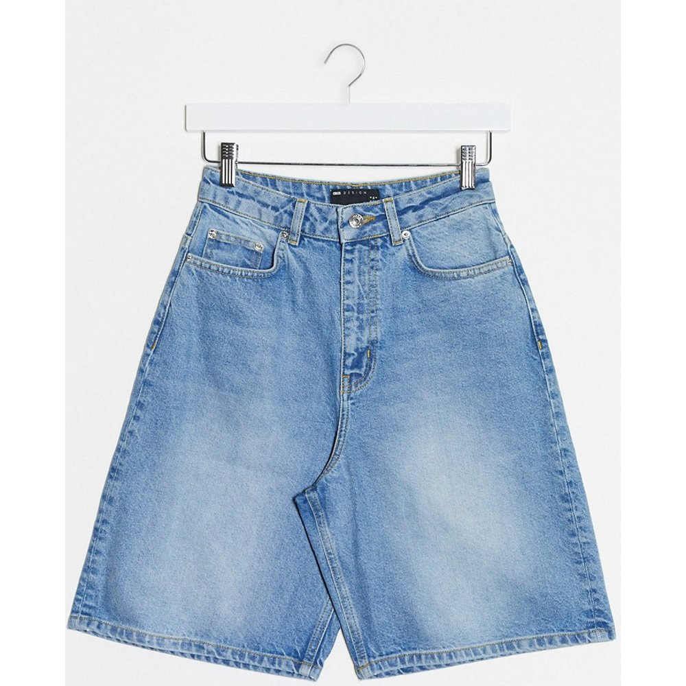 Short en jean large décontracté taille haute - ASOS DESIGN - Modalova