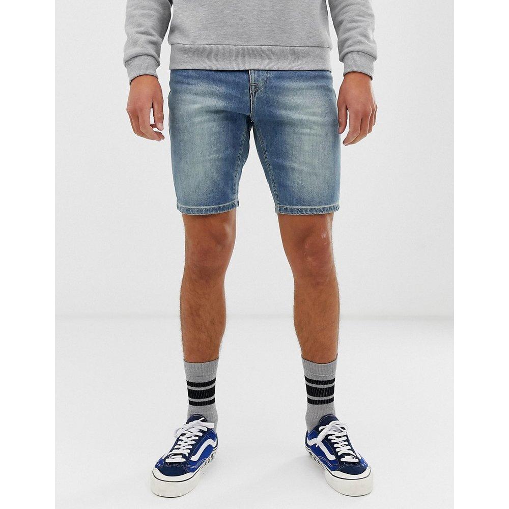 Short en jean skinny à délavage moyen - ASOS DESIGN - Modalova